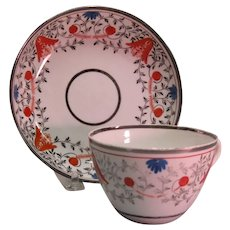 New Hall Cup and Saucer ca. 1810
