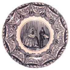 French Transfer Plate ca. 1850-60