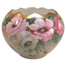 Hand Painted China Large Rose Bowl ca. 1900