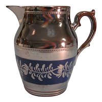 Silver Luster Pitcher ca. 1845