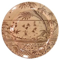 Aesthetic Transfer Soup Plate ca. 1881