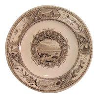 """Aesthetic Transfer Plate """"Seaside"""" ca. 1885"""