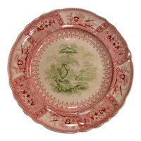 "Bi-Color ""Canova"" Staffordshire Plate ca. 1835"