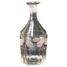 Frosted Leaf Decanter ca. 1860-70
