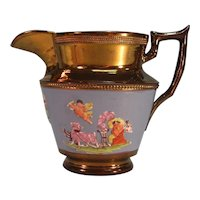 Copper Luster Pitcher with Classical Scenes ca. 1840