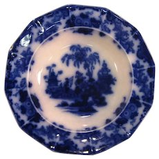 Scinde Flow Blue Oversize Soup Plate ca. 1860