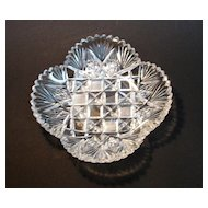 Brilliant Cut Glass Square Dish