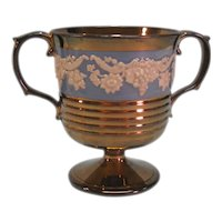 "Copper Luster ""Loving Cup"" with Grapevine Relief ca 1825"