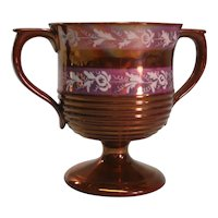 Copper Luster Loving Cup with Resist ca. 1835