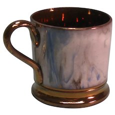 Copper Luster Marbled Child's Mug ca. 1845