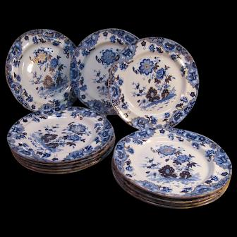 "Set of 12 Spode ""New Stone"" Plates ca. 1825"