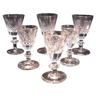 Early Diamond and Fan cut Wines and Cordials
