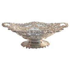 Sterling Basket form Dish by Bigelow & Kennard