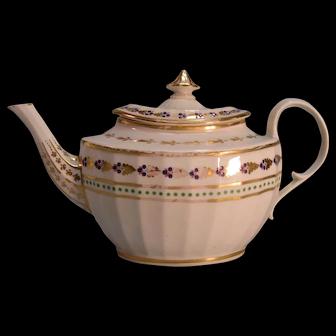 English Porcelain Teapot ca. 1810