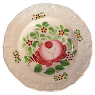 Rose Decorated Miniature Plate ca. 1820