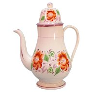 Floral and Luster Coffeepot ca. 1825