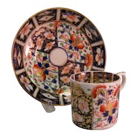 "Bloor Derby ""Japan"" Can and Saucer ca. 1835"