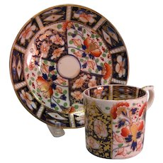 """Bloor Derby """"Japan"""" Can and Saucer ca. 1835"""