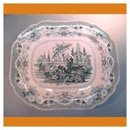 Large Staffordshire Meat Platter ca. 1840