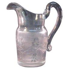 Flint Bellflower Water Pitcher ca. 1850