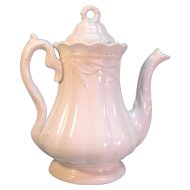 "White Ironstone ""Ceres"" Coffee Pot ca. 1865"