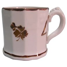 Tea Leaf Ironstone Mug ca. 1850s