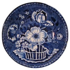 Staffordshire Blue Transfer Clews Saucer ca 1825-30