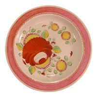 """Pearlware """"King's Rose"""" plate ca. 1800"""