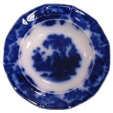 Scinde Flow Blue Soup Plate ca. 1860