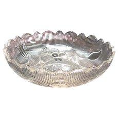 Flint Bellflower Pattern Round Bowl ca. 1850