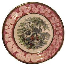 Luster and Transfer Plaque ca. 1850