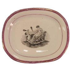 Teapot Stand with Mother and Child Transfer ca. 1825