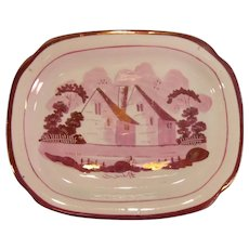 Pink Luster Teapot Stand ca. 1840