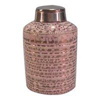 Creamware Pink Luster Tea Caddy ca. 1810