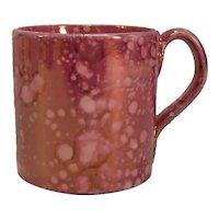 "Pink ""Splash"" Luster Child's Mug ca. 1825-35"