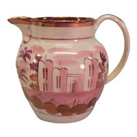 Pink Luster Creamware Pitcher ca. 1830