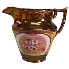 "Copper luster 6.5"" with Transfers of Cattle ca. 1835"