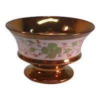 Copper Luster Footed Bowl ca. 1840-50