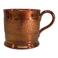 "Copper Luster ""Sand"" Texture Child's Mug ca. 1845"
