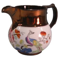 Copper Luster and Transfer Pitcher ca. 1835