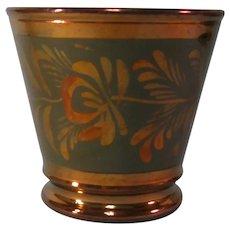 Copper Luster Beaker ca. 1845