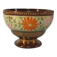 Copper Luster Bowl with Bright Floral Decoration ca. 1840