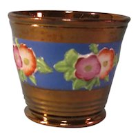 Copper Luster Beaker with Relief Floral ca. 1845-50
