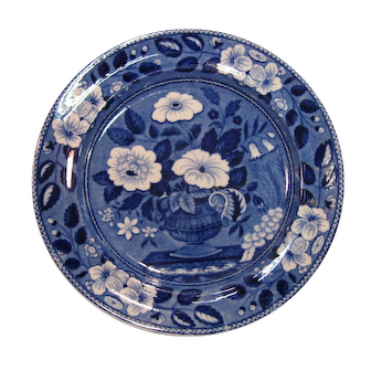 Blue and White Staffordshire Plate ca. 1825