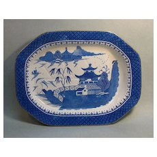 """Stone China"" Well and Tree Platter ca. 1825"