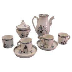 Toy Transferware Partial Tea Set ca. 1830