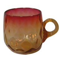 Amberina Punch Cup ca. 1890