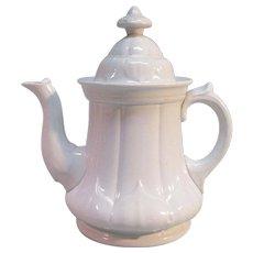 """White Ironstone """"Pearl Sydenham"""" Teapot"""