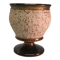"Copper Luster ""Sand"" Finish Vase ca. 1845"