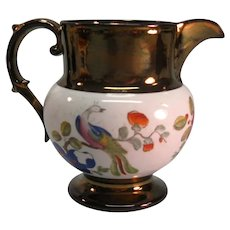 Copper Luster Pitcher with Chinoiserie ca. 1825
